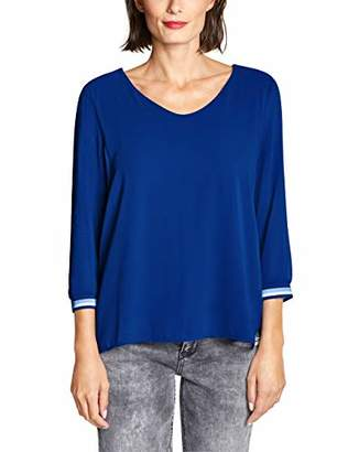 Street One Women's 314030 Rafaela T-Shirt, (Cobalt Blue 11784), (Size: 44)
