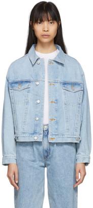 A Gold E Agolde AGOLDE Blue Denim Charli Jacket