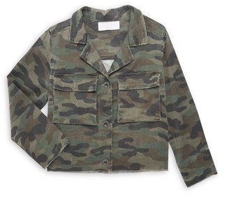 Bella Dahl Little Girl's & Girl's Cropped Military Jacket