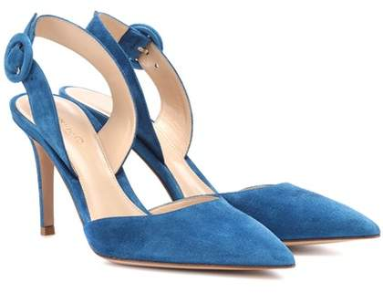 Gianvito Rossi Exclusive to mytheresa.com – Suede slingback pumps
