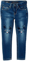 Vigoss Embroidered Knee Skinny Jean (Little Girls)