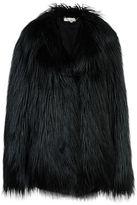 Stella McCartney black fur free fur dan coat