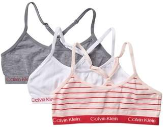 Calvin Klein Seamless Racerback Crop Bra - Pack of 3 (Big Girls)