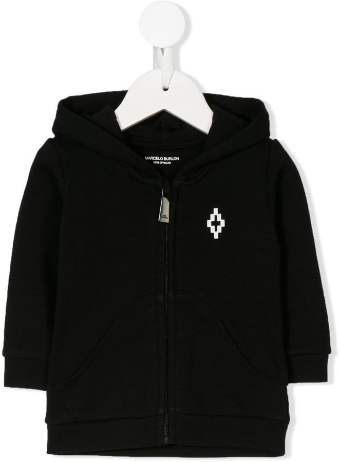 Marcelo Burlon County of Milan Kids full-zipped logo hoodie