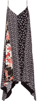 Rag & Bone Londar Asymmetric Floral-print Crepe Midi Dress - Black