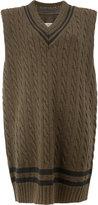 Maison Margiela cable knit sleeveless jumper