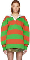 Marc Jacobs Green and Orange Rugby Polo