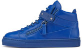 Giuseppe Zanotti Leather High-Top Sneaker, Royal Blue, Toddler/Youth