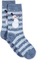 Charter Club Women's Snowman Striped Socks, Created for Macy's