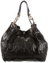 Jimmy Choo Snakeskin Tote Bag