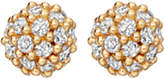 Astley Clarke Pavé Ball Halo 14ct yellow gold and diamond stud earrings