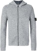 Stone Island zip up hooded cardigan - men - Acrylic/Elastodiene/Polyamide/Alpaca - L