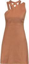 Valentino Cutout linen mini dress