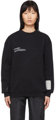 A-Cold-Wall* Black Mission Statement Overlock Sweatshirt