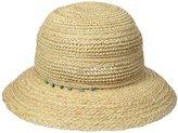 San Diego Hat Company Women's 3-Inch Brim Raffia Kettle Brim Sun Hat