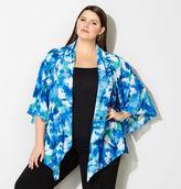 Avenue Abstract Floral Kimono Cardigan