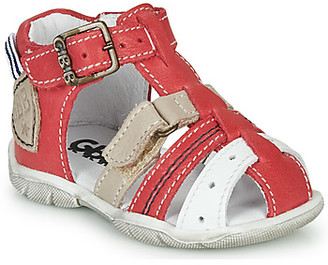 GBB BYZANTE boys's Sandals in Red