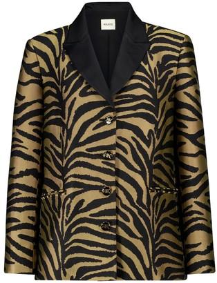 KHAITE Joan zebra-print twill blazer