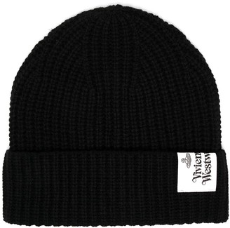 Vivienne Westwood Wool Knit Logo Patch Beanie
