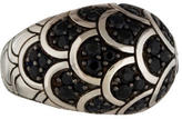 John Hardy Dome Ring with Black Sapphire Pave