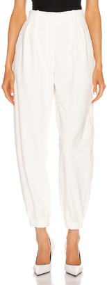 Alexander Wang All Over Embroidery Corduroy Sweatpant in Ivory | FWRD