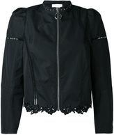 3.1 Phillip Lim lace-hem zipped jacket - women - Cotton/Silk - 8