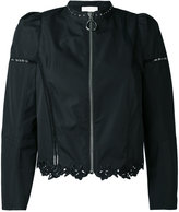 3.1 Phillip Lim lace-hem zipped jacket - women - Silk/Cotton - 10
