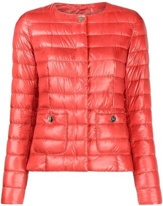 Herno Collarless Padded Jacket