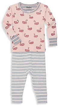 Hatley Baby Girl's 2-Piece Swan Like Organic Cotton Top & Bottom Set