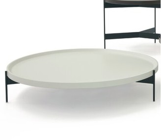 """Pianca USA Abaco 3 Legs Tray Top Size: 7.09"""" H x 35.43"""" L x 35.43"""" W, Table Top Color: Perla Lacquer"""