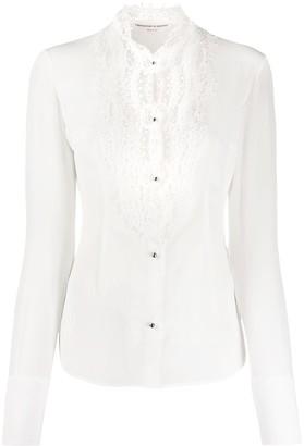 Ermanno Scervino Lace-Embellished Long-Sleeved Shirt