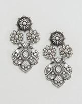 Aldo Doring Floral Statement Embellished Earrings