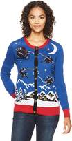 Ugly Christmas Sweater Women's Santa Sled Cardigan