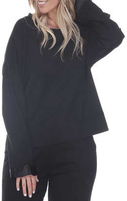 PJ Harlow Izzy French Terry Sweatshirt w/ Satin Cuffs