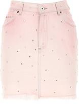 Miu Miu Embellished Mini Skirt