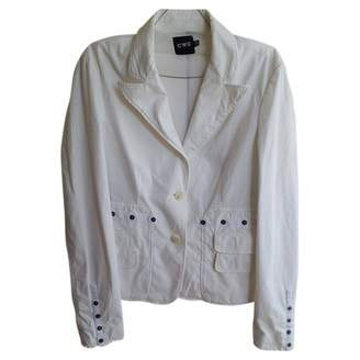 CNC Costume National White Cotton Jacket for Women