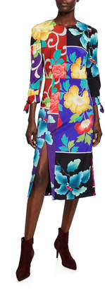 Etro Japanese Floral Patchwork Dress