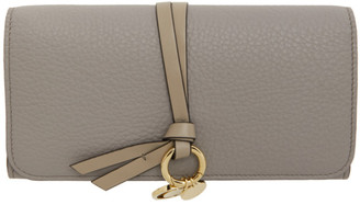 Chloé Grey Long Alphabet Wallet