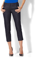 New York & Co. 7th Avenue Pant - Crop Straight Leg - Signature - Hidden Blue - Tall