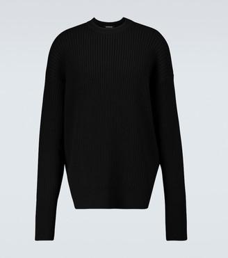 Balenciaga Ribbed crewneck sweater