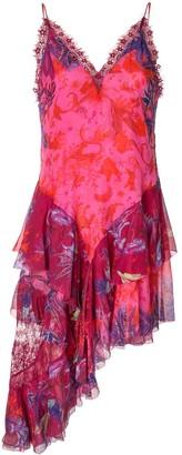 Camilla Tropic Moon asymmetric camisole dress