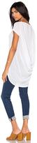 Bobi Tissue Jersey Scoop Back Short Sleeve Top