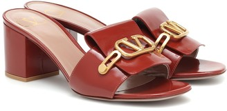 Valentino VLOGO patent leather sandals