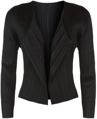 Pleats Please Cropped Plisse Cardigan