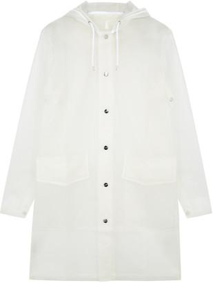 Rains White Transparent Rubberised Raincoat