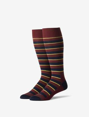Tommy John Tommyjohn Ivy League Stripe Stay-Up Dress Sock