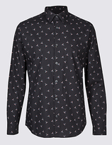 Limited Edition Pure Cotton Slim Fit Printed Shirt