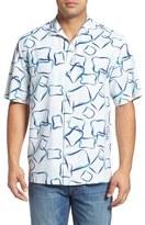 Tommy Bahama Congo Club Regular Fit Print Silk Camp Shirt