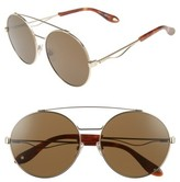 Givenchy Women's 62Mm Round Sunglasses - Gold