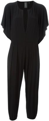 Norma Kamali V-neck short sleeves jumpsuit